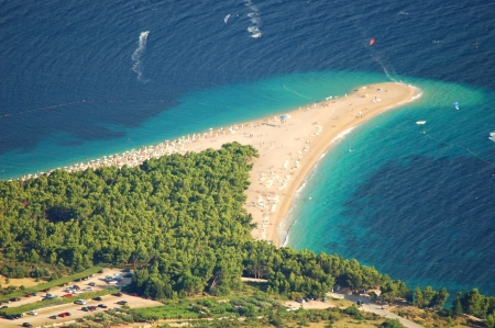 brac: Gorgeous spectacular view from Vidova Gora on Golden Cape on Brac island in Croatia
