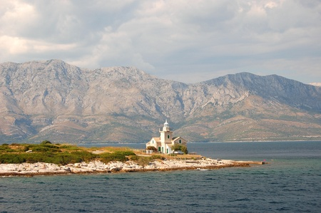 superb: superb picturesque view on lighthouse in sucuraj on hvar island, croatia