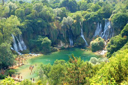 hercegovina: Kravica waterfalls, Bosnia and Hercegovina Stock Photo