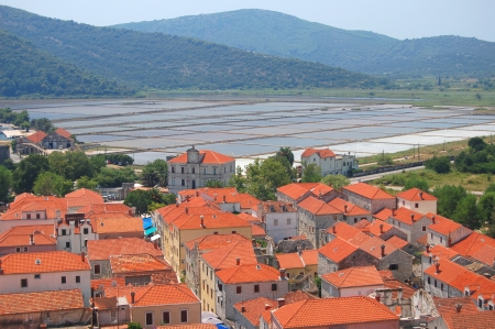 superb: Spectacular superb scene of village Ston on Peljesac peninsula, Croatia