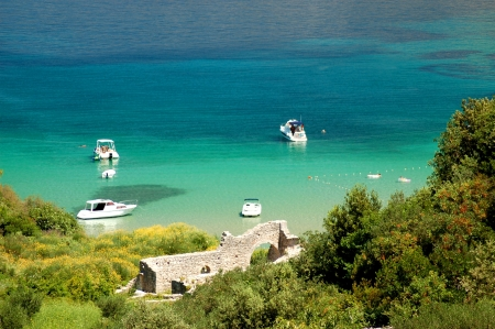 brac: Picturesque view on sandy Lovrecina beach on Brac island, Croatia