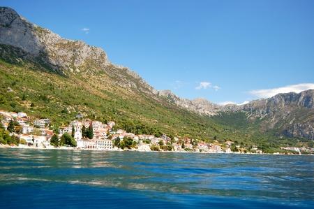 malerischen malerischen Blick auf Adria-Strand in brist, Dalmatien - Kroatien