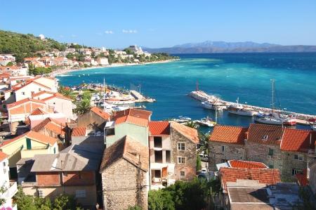 dalmatia: gorgeous azure scene of summer croatian landscape in podgora, dalmatia, croatia