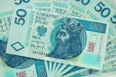 50 zloty polish banknotes
