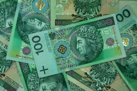 100 zloty polish banknotes 免版税图像