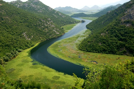 superb: Picturesque superb gorgeous view on Crnojevica river in Montenegro