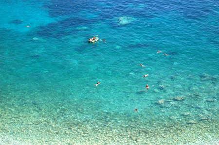 picturesque tranguil summer view on montenegrin beach