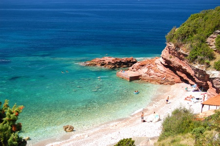 superb: Superb picturesque scene of adriatic beach in Montenegro