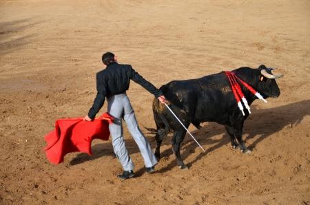 toreador: Toreador during corrida show in Fontanar, Spain