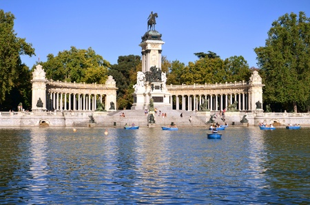 Estanque Grande in Retiro Park the biggest park in Madrid, Spain Banque d'images