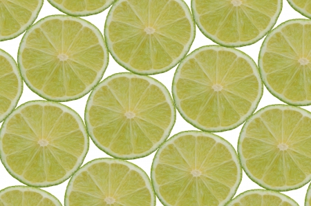 Composition made of slices of lime photo