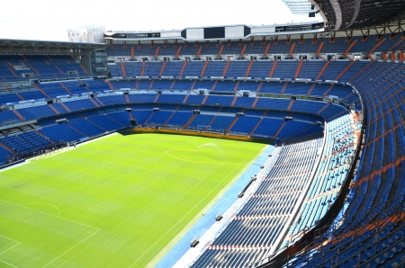 Madrid, Spain – August 25, 2012 : Santiago Bernabeu Stadium of Real Madrid. Éditoriale