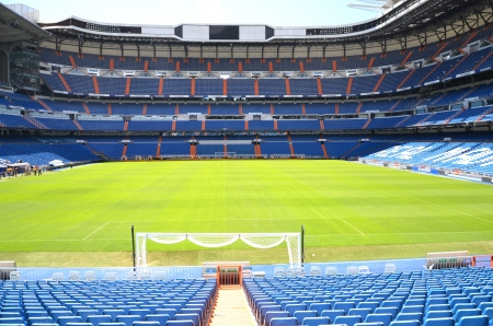 Madrid, Spain � August 25, 2012 : Santiago Bernabeu Stadium of Real Madrid. Stock Photo - 20030616