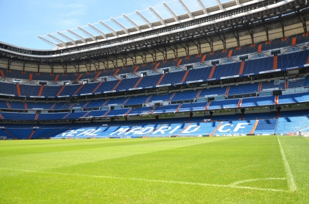 Madrid, Spain � August 25, 2012 : Santiago Bernabeu Stadium of Real Madrid.