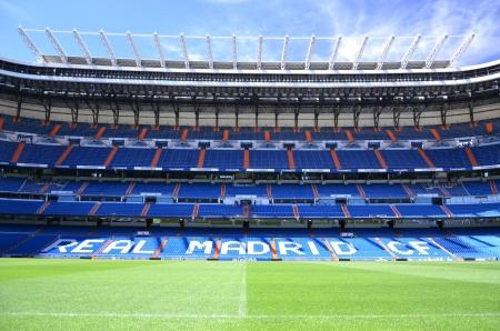 Madrid, Spain � August 25, 2012 : Santiago Bernabeu Stadium of Real Madrid. Editorial