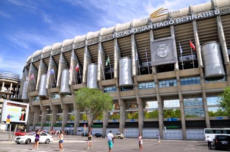 Madrid, Spain � August 25, 2012 : Santiago Bernabeu Stadium of Real Madrid. 免版税图像 - 20030605