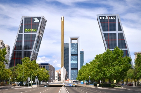 Madrid, Spain - August 25, 2012 : Gate of Europe buildings.