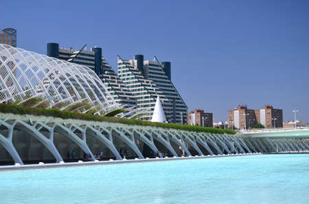 Valencia, Spain � August 24, 2012 : The City of Arts and Sciences.
