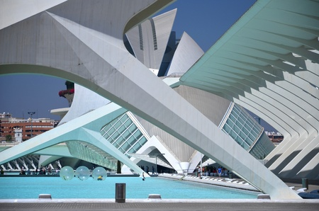 Valencia, Spain – August 24, 2012 : The City of Arts and Sciences.