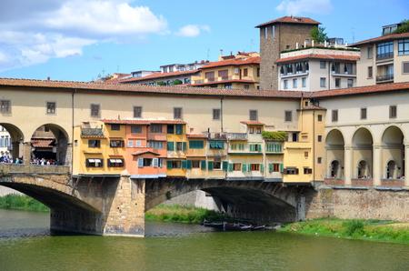 Ponte Vecchio over Arno River in Florence, Italy photo