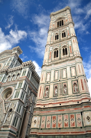 Spectacular view of famous marble cathedral Santa Maria del Fiore in Florence, Italy Stock Photo - 22187033