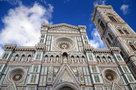 Spectacular view of famous marble cathedral Santa Maria del Fiore in Florence, Italy Stock Photo - 22187032