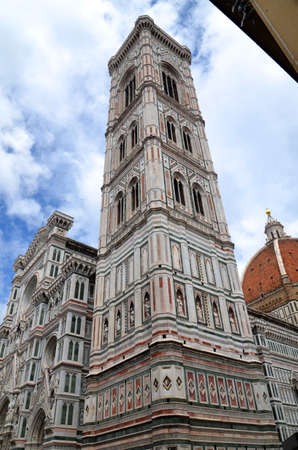 Spectacular view of famous marble cathedral Santa Maria del Fiore in Florence, Italy Stock Photo - 22187037