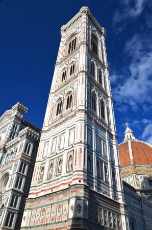 Spectacular view of famous marble cathedral Santa Maria del Fiore in Florence, Italy Stock Photo - 22187038