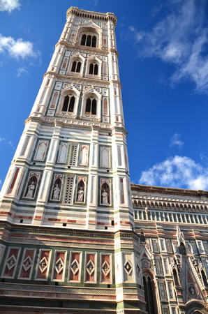 Spectacular view of famous marble cathedral Santa Maria del Fiore in Florence, Italy Stock Photo - 22187039