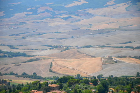 Beautiful picturesque landscape of countyside in Tuscany, Italy photo