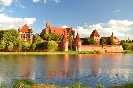 Picturesque view of Malbork castle in Pomerania region, Poland 免版税图像 - 22656179