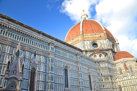 Impressive famous marble cathedral Santa Maria del Fiore in Florence, Italy Stock Photo - 23182365
