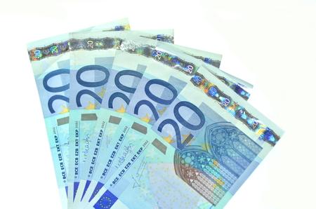 venti banconote in euro