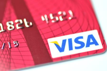 Closeup of VISA credit card 免版税图像