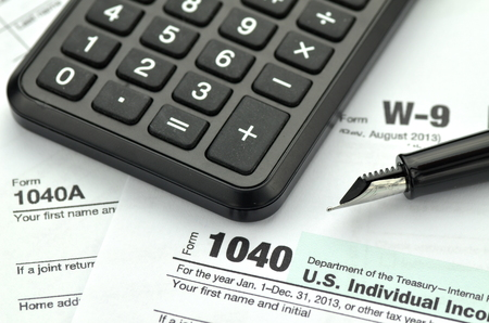 closeup of us tax forms photo