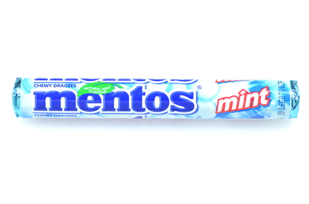 melle: Mentos chewy dragees isolated on white
