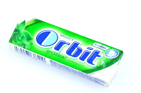 Orbit chewing gum isolated on white background