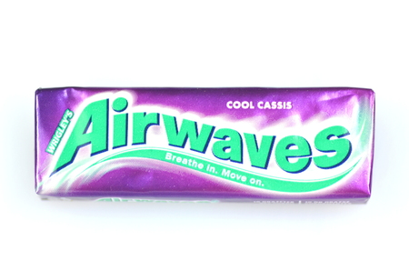 airwaves: Airwaves chewing gum isolated on white background