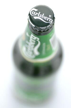 carlsberg: Carlsberg beer isolated on white background