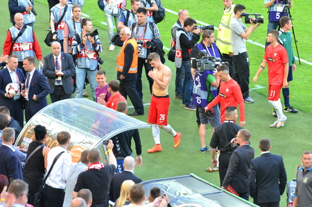 defender: Defender of the National Team of Poland Lukasz Piszczek Editorial