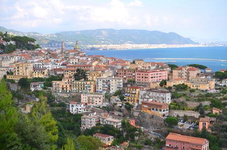 tyrrhenian: picturesque landscape of vietri sul mare on amalfi coast in Italy Stock Photo