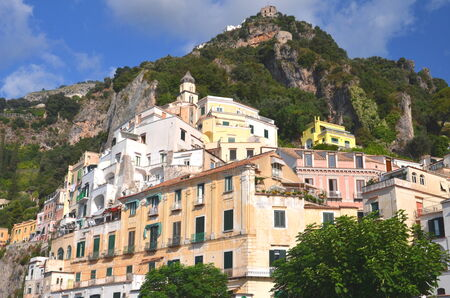 Picturesque view of Amalfi, Italy photo