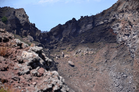 impressive: impressive view of crater of Vesuvius volcano, Campania in Italy