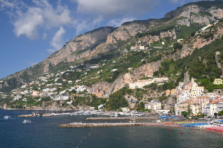 Picturesque summer landscape of town Amalfi, Italy photo