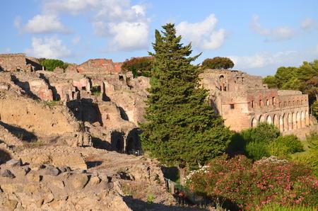 Famous antique ruins of Pompeii, Italy photo