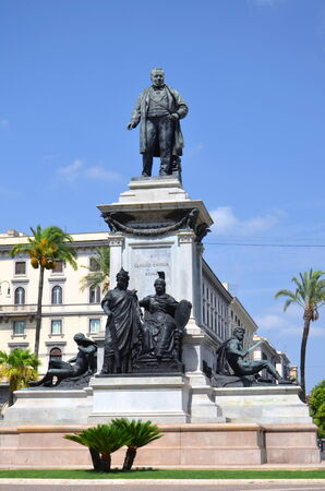 cavour: The monument of Camillo Cavour first prime minister of Italy on Piazza Cavour in Rome, Italy Stock Photo