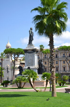 camillo: The monument of Camillo Cavour first prime minister of Italy on Piazza Cavour in Rome, Italy Stock Photo