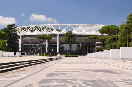 olympic stadium: Exterior of the Olympic Stadium in Rome, Italy