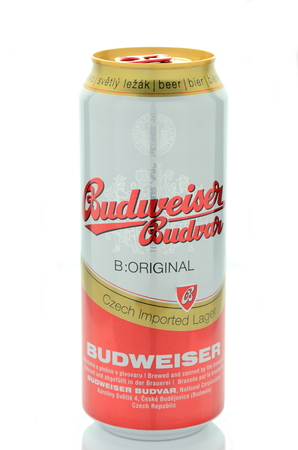 budweiser: Budweiser lager beer isolated on white background