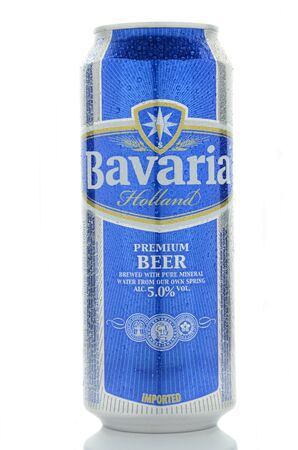 dewed: Bavaria beer isolated on white background.